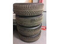 BMW Steel Wheels & Tyres 16x7, 5x120, ET44, CB 72.5 205/55/16 Michelin Tyres 7mm of Tread