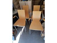 4 BEECH IKEA QUALITY KITCHEN OR DINING CHAIRS
