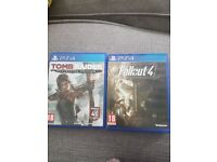 fallout 4 and tomb raider 'definitive edition' ps4 games (PlayStation 4 games)