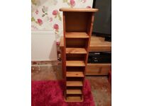 PINE CD/DVD STAND IN GREAT CONDITION