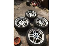 BMW E39 5 SERIES M PARALLEL ALLOY WHEELS STYLE 37 staggered deep dish