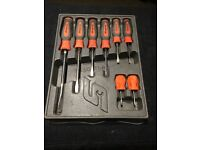 Snap on rare orange screwdriver set x8