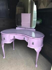Up Cycled Vintage Kidney Shaped Dressing Table (Can Deliver)