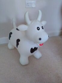 Toddler bouncy cow