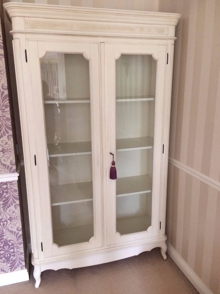 laura ashley white french armoire cupboard wardrobe. Black Bedroom Furniture Sets. Home Design Ideas