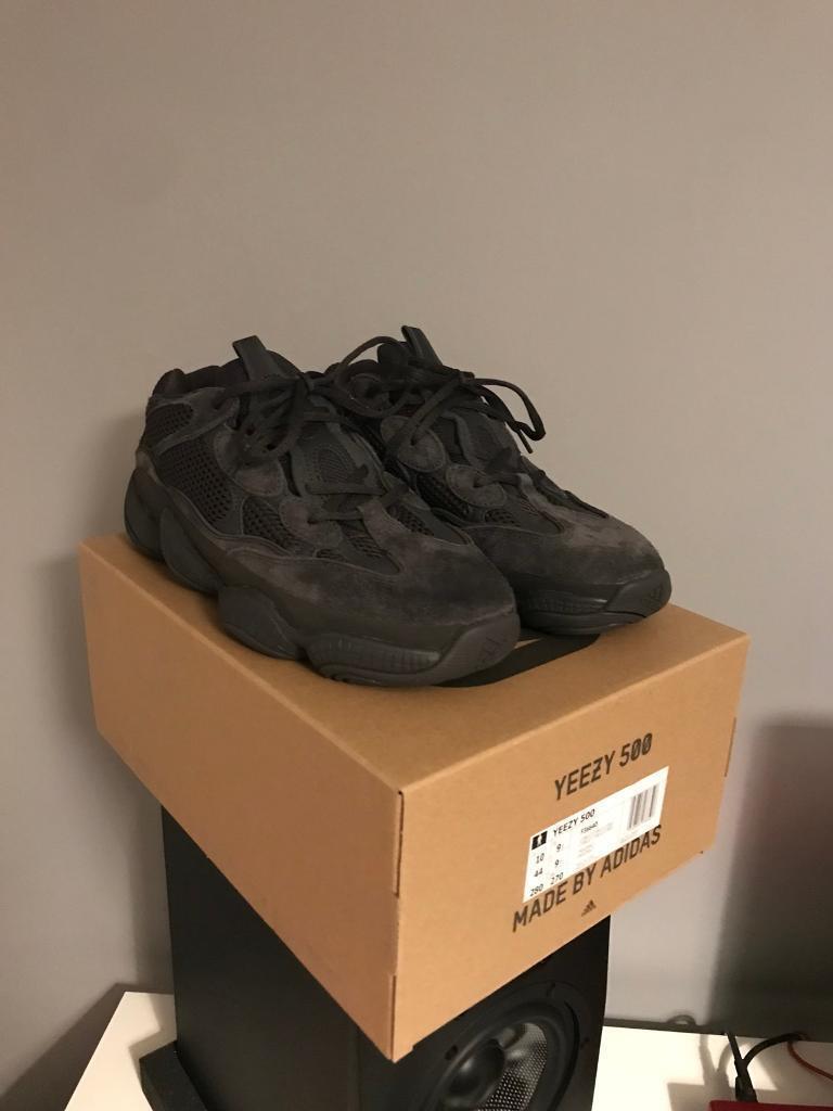 best website 89075 e53b3 Adidas Yeezy 500  Utility Black  UK Size 9.5