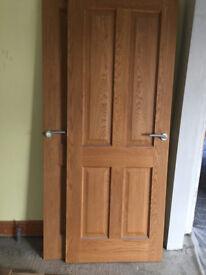 3 x Oak Panel Doors for Sale