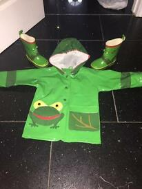 Frog raincoat & wellies