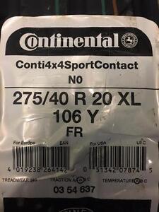 4 Brand New Continental Conti 4x4 Sport Contact 275/40R20     *** WallToWallTires.com ***