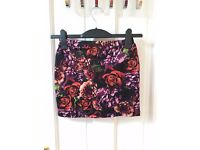 Floral Bodycon Skirt Size 8/10