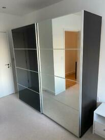 Ikea Pax sliding door mirrored wardrobe