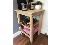 Ikea Butchers Block - solid wood. Kitchen trolley