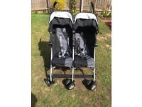 Maclaren Double buggy, Triumph Black/charcoal