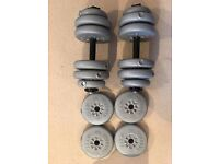York Dumbbells and Weights + extra weights