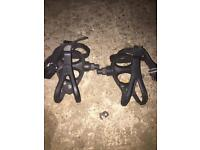 Bike pedals with clips built in