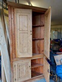 Old Pine Corner Cabinet