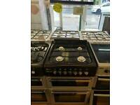 FLAVEL 60CM GAS DOUBLE OVEN COOKER IN BLACK & SILVER