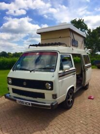 VW T25 Transporter Autohomes original, sleeps 4, 3-pt belts in rear, leather, v high spec
