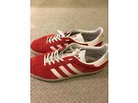 Men's red Adidas Gazelles size 10