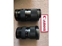 2x Canon FD Lenses (fast classics) 35-70mm f2.8-3.5 + 35-105mm f3.5 (constant)