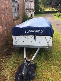 Sunncamp se 360 trailer tent with accessories