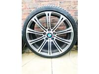 "Bmw 19"" Diamond cut Alloys With two Pirelli Pzero Tyres."