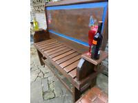 High back garden bench