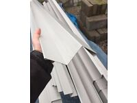 Roofing Trim: Goose wing Grey, 25 x 3m lengths with joining brackets
