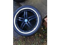 ONE 22 inch finichi alloy with good tyre