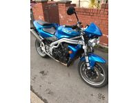 Triumph Speed Triple . Reluctant sake due to ill health. Lovely condition with long MOT.