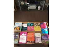 Social work books for sale used throughout degree.