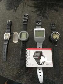 DIVING COMPUTERS AND DIVE WATCH. SOLD