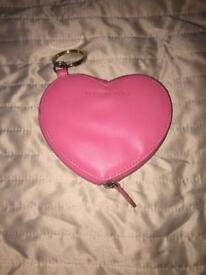 Victoria secrets pink heart purse