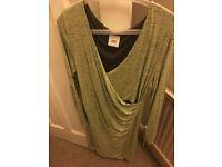MAMALICIOUS Green wrap front dress