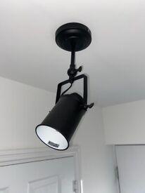 Modern black light fitting