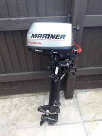 Mariner 5hp 4 stroke outboard.