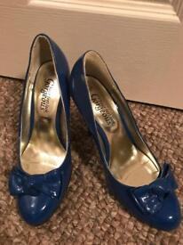 New Look electric blue shoes (size 5)