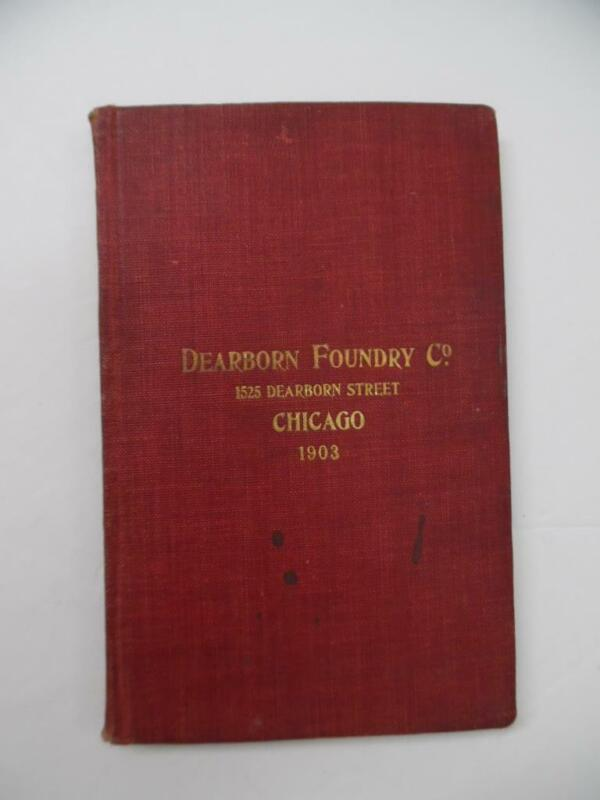 1903 Dearborn Foundry Architectural Iron Work Catalog Vintage Original Chicago