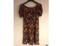 Ladies size 10 NEXT flower design dress