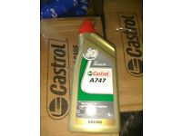 CASTROL A747 2 STROKE OIL ( ULTIMATE, SMELLS LIKE THE OLD CASTROL R