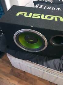 Fusion subwoofer with built in amp