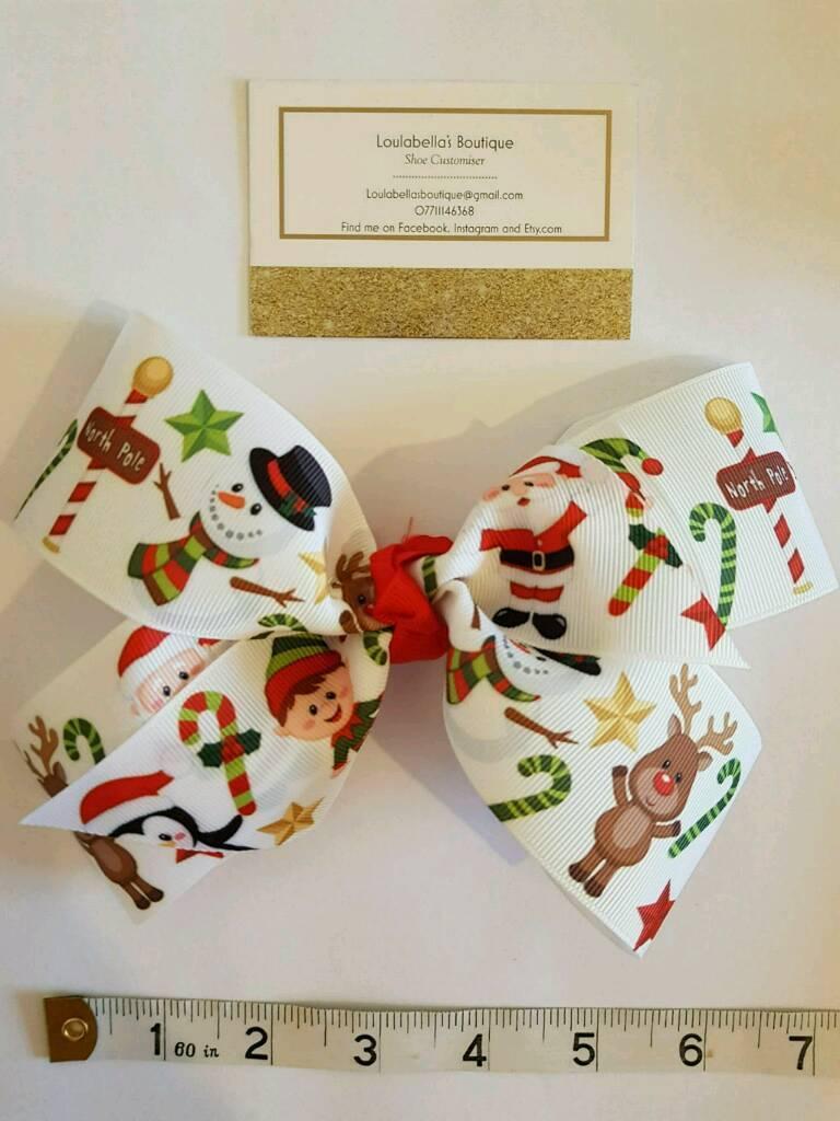 Loulabella's Christmas ( jojo style ) hair bow