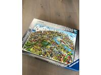 Pair of 1000 piece jigsaws - no missing pieces