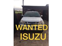 WANTED!!! ISUZU RODEO ANY CONDITION