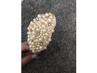 Vintage Pearl & Diamanté Bridal Headband