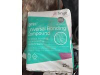 Ten bags of Siniat universal bonding compound. Over twelve months old but stored dry.