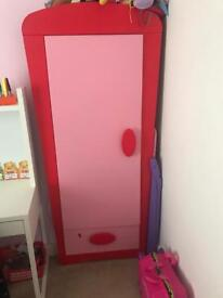 Pink girls wardrobe from ikea
