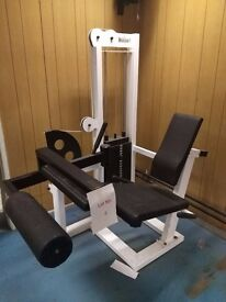 watson heavy commercial seated hamstring leg curl machine
