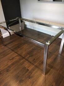 Glass Dining Room Table.