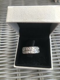 Lovely silver and CZ ring